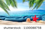 summer photo of beach and free... | Shutterstock . vector #1100088758