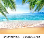 summer photo of beach and free... | Shutterstock . vector #1100088785