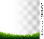 green grass frame transparent... | Shutterstock .eps vector #1100089292