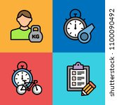 set of sport icons. vector... | Shutterstock .eps vector #1100090492