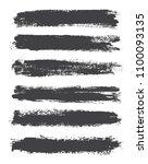 grunge brush strokes.dirty... | Shutterstock .eps vector #1100093135