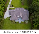 aerial view of large home with... | Shutterstock . vector #1100094755