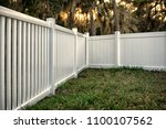 vinyl fence solid and semi... | Shutterstock . vector #1100107562