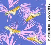 tropical leaves and underwear...   Shutterstock . vector #1100108558