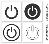 power icon set vector design | Shutterstock .eps vector #1100112248