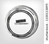 tire track circle grunge frame. ... | Shutterstock .eps vector #1100113895