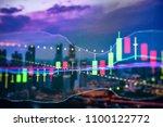 forex market background ...   Shutterstock . vector #1100122772