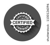 certified grunge rubber stamp.... | Shutterstock .eps vector #1100126096
