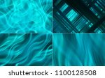 collection of blue illustration.... | Shutterstock . vector #1100128508