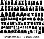 evening dresses and accessories | Shutterstock .eps vector #110013056