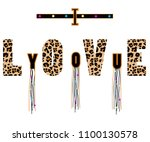 text leopard black and white...   Shutterstock .eps vector #1100130578