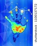 technology background   color... | Shutterstock .eps vector #1100137172
