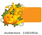 greeting card for halloween... | Shutterstock .eps vector #110014016