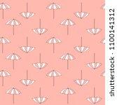 pattern of summer beach... | Shutterstock .eps vector #1100141312