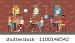 bar interior room in building.... | Shutterstock .eps vector #1100148542