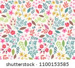 vector seamless pattern. pretty ... | Shutterstock .eps vector #1100153585