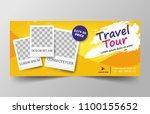 travel banner for website with... | Shutterstock .eps vector #1100155652