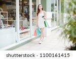 happiness  consumerism  sale... | Shutterstock . vector #1100161415