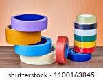 adhesive tape in range  set of... | Shutterstock . vector #1100163845