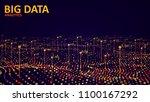 big data visualization.... | Shutterstock .eps vector #1100167292