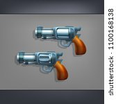 cartoon handgun of a two...   Shutterstock .eps vector #1100168138