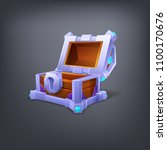 cartoon colorful empty treasure ... | Shutterstock .eps vector #1100170676