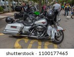 motorcycles show in palamos in... | Shutterstock . vector #1100177465