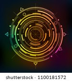 abstract circle.linear drawing... | Shutterstock .eps vector #1100181572