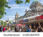 belfast  northern ireland  may...   Shutterstock . vector #1100184455