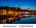 Whitby Harbour At Night With...