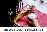 traditional turkish coffee and... | Shutterstock . vector #1100199758