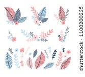 design flower set. illustration ... | Shutterstock .eps vector #1100200235