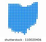 map of ohio   Shutterstock .eps vector #110020406