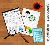 approved credit loan concept.... | Shutterstock . vector #1100208068