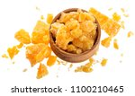 pieces of parmesan cheese in... | Shutterstock . vector #1100210465