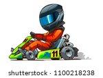 shifter kart racer cartoon... | Shutterstock .eps vector #1100218238
