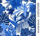 floral seamless pattern.... | Shutterstock . vector #1100225288