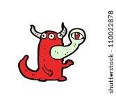 weird monster cartoon | Shutterstock .eps vector #110022878