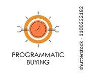 colored programmatic buying... | Shutterstock . vector #1100232182