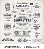 vector set of calligraphic... | Shutterstock .eps vector #110023676