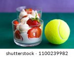 whipped cream  meringues and... | Shutterstock . vector #1100239982