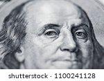 benjamin franklin's look on a... | Shutterstock . vector #1100241128