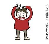 man tearing out hair cartoon | Shutterstock .eps vector #110024618