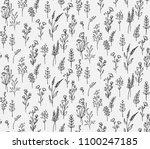 crispy flowers pattern print | Shutterstock .eps vector #1100247185