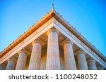 detail of lincoln memorial ... | Shutterstock . vector #1100248052