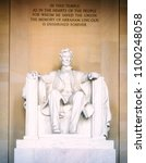 statue of abraham lincoln ... | Shutterstock . vector #1100248058