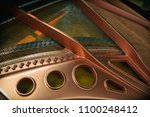 detail from piano interior | Shutterstock . vector #1100248412