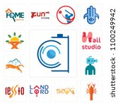 set of 13 simple editable icons ...   Shutterstock .eps vector #1100249942