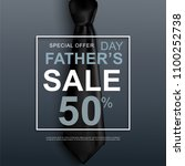 fathers day sale. special offer.... | Shutterstock .eps vector #1100252738