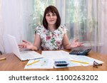 woman need help with filling... | Shutterstock . vector #1100263202